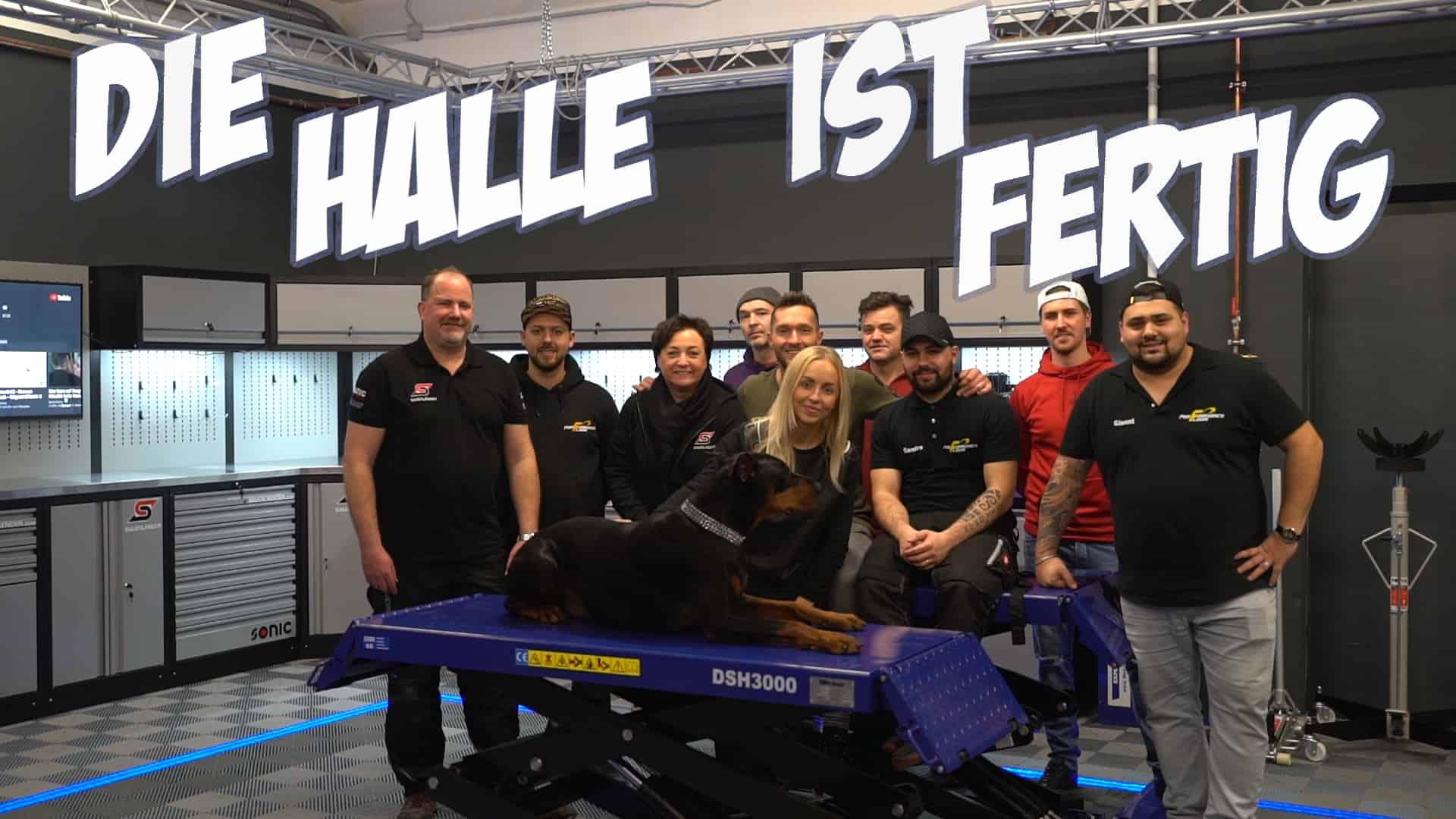 Rennfahrer David Schiwietz - die neue Halle ist fertig!